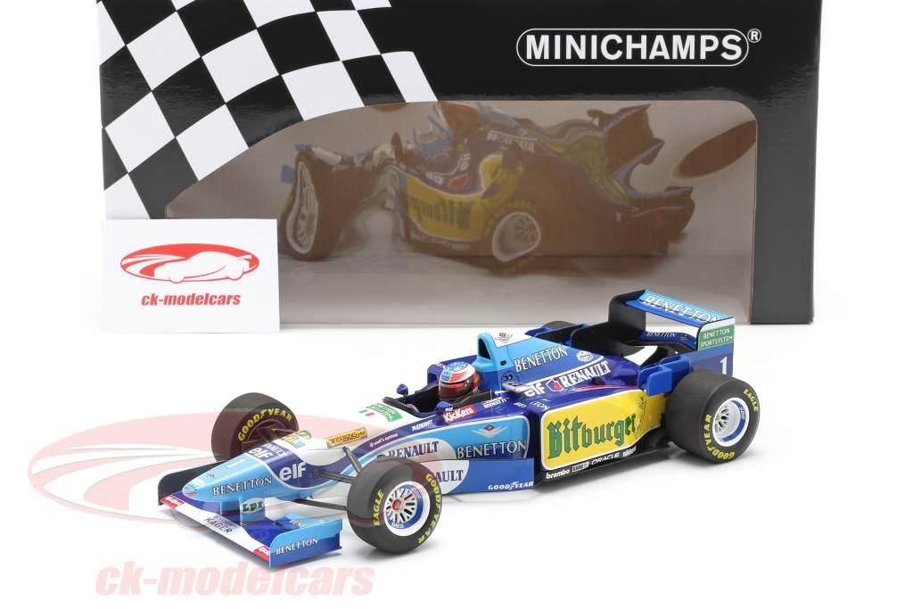 M. Schumacher Benetton B195 #1 tysk GP F1 Verdensmester 1995 1:18 Minichamps