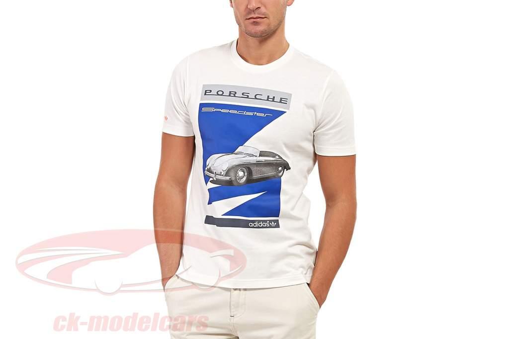 Porsche T-shirt Porsche Speedster Adidas white