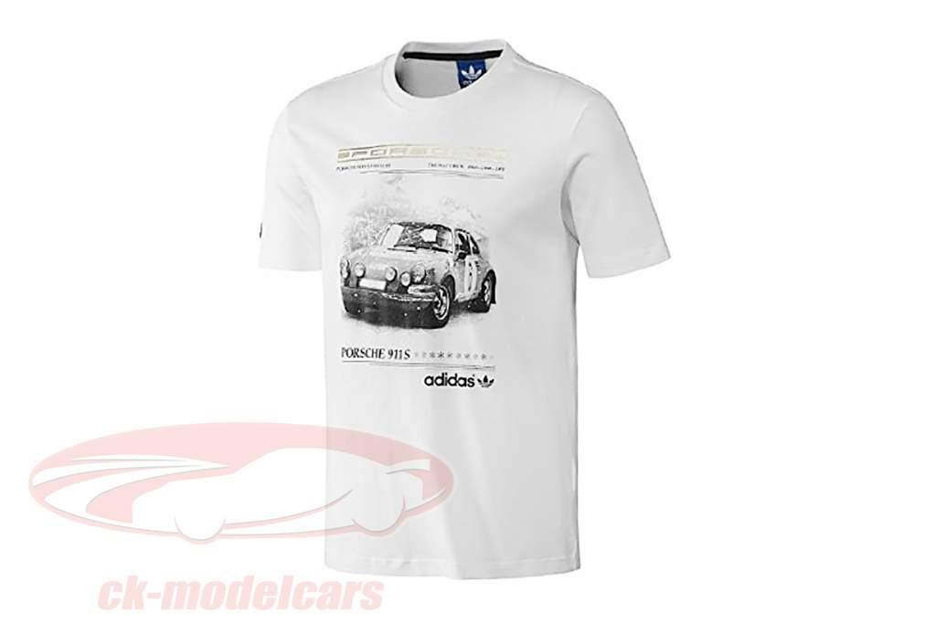 Porsche T-shirt Porsche 911 S The Hattrick Adidas white