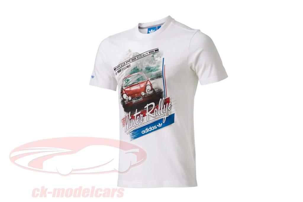 Porsche T-Shirt Porsche 911 S 2,2 Rallye 1970 Adidas weiß