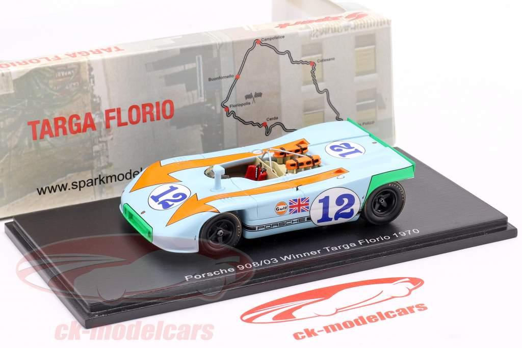Porsche 908/03 #12 vincitore Targa Florio 1970 Siffert, Redman 1:43 Spark