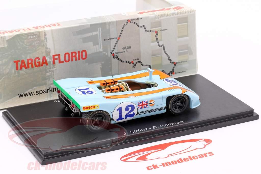 Porsche 908/03 #12 vinder Targa Florio 1970 Siffert, Redman 1:43 Spark