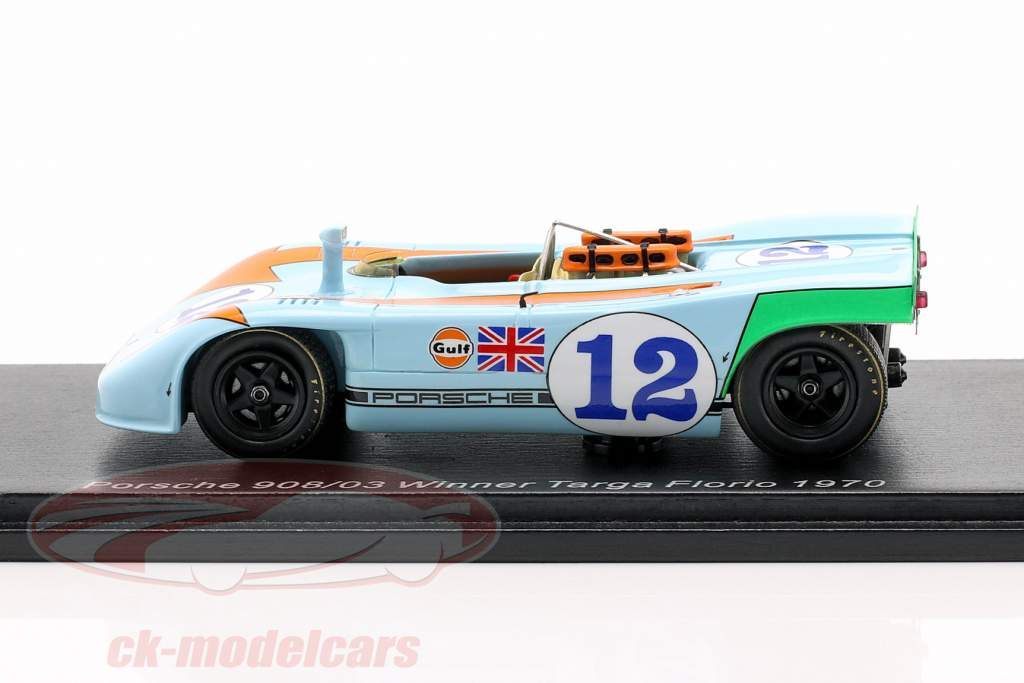Porsche 908/03 #12 winnaar Targa Florio 1970 Siffert, Redman 1:43 Spark