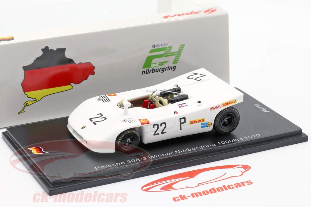 Porsche 908/03 #22 Sieger 1000km Nürburgring 1970 Elford, Ahrens jr. 1:43 Spark