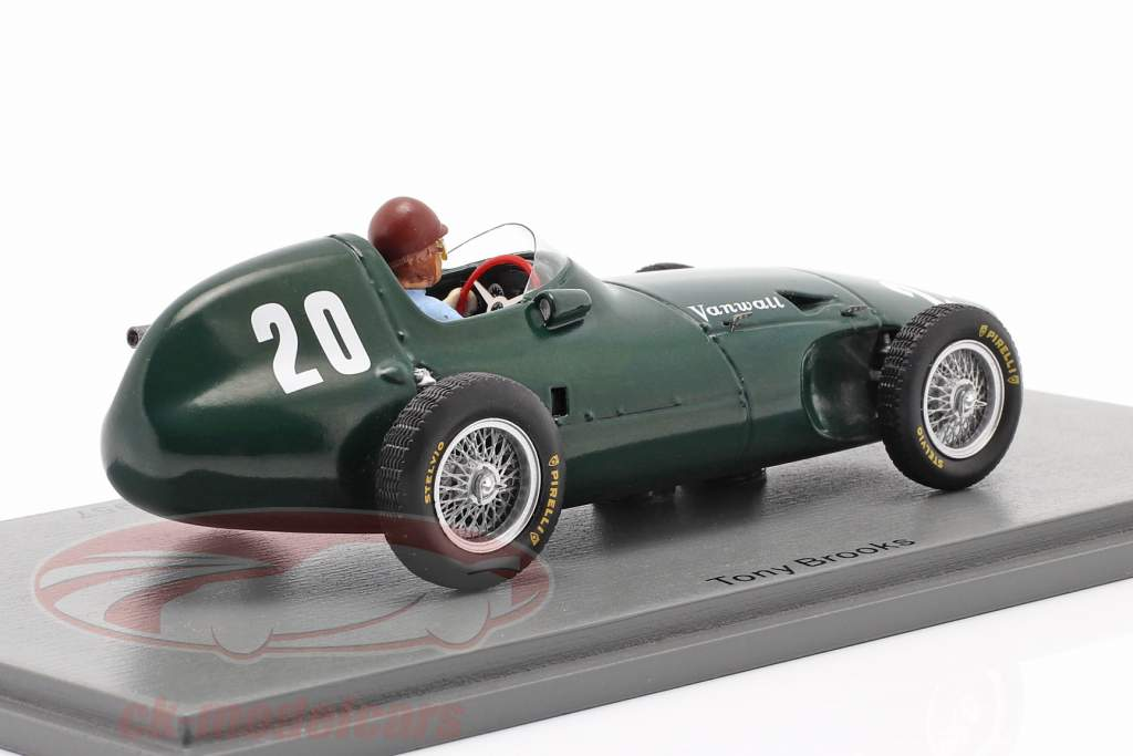 Tony Brooks Vanwall VW57 #20 2. plads Monaco GP formel 1 1957 1:43 Spark