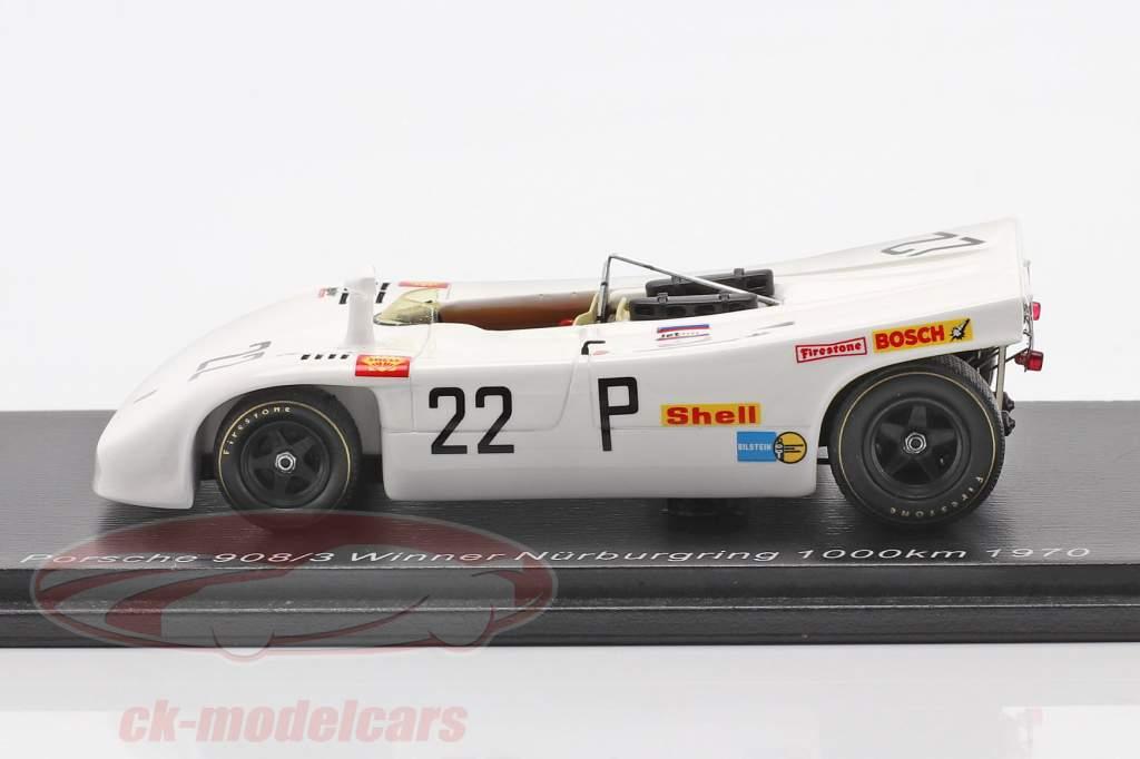 Porsche 908/03 #22 winnaar 1000km Nürburgring 1970 Elford, Ahrens jr. 1:43 Spark
