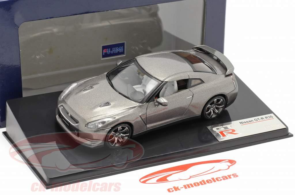 Nissan GT-R R35 cinzento 1:43 Fujimi
