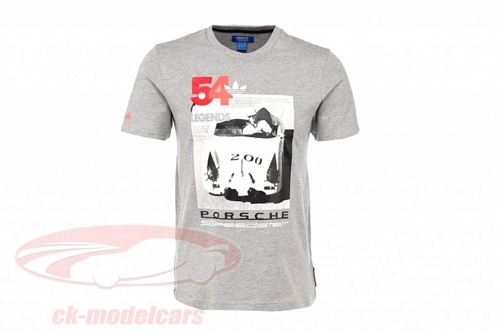 Porsche T恤衫 Porsche Speedster 沥青 传说 Adidas 灰色