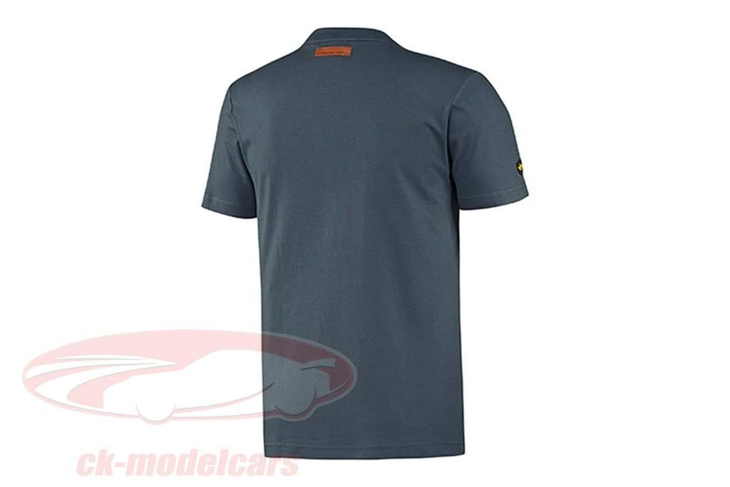Porsche camiseta Porsche 550 em dobro Vitória 1954 Adidas cinza azul