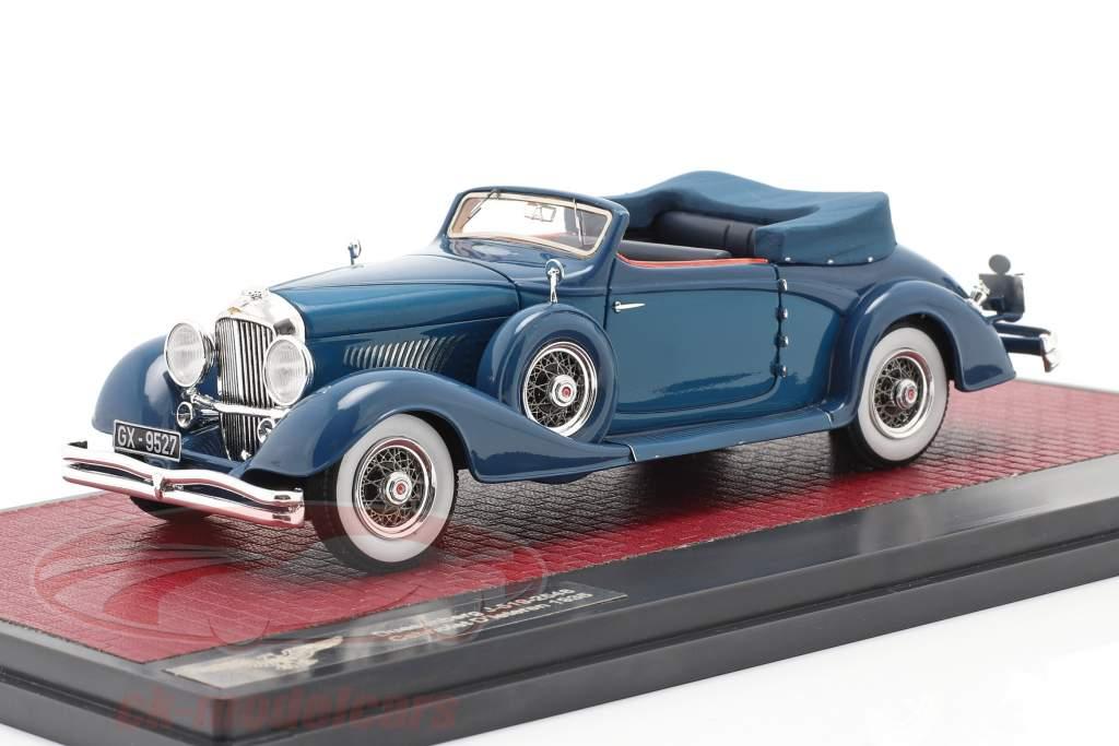 Duesenberg J-519-2548 Cabriolet D'Ieteren Open Top 1935 blue 1:43 Matrix