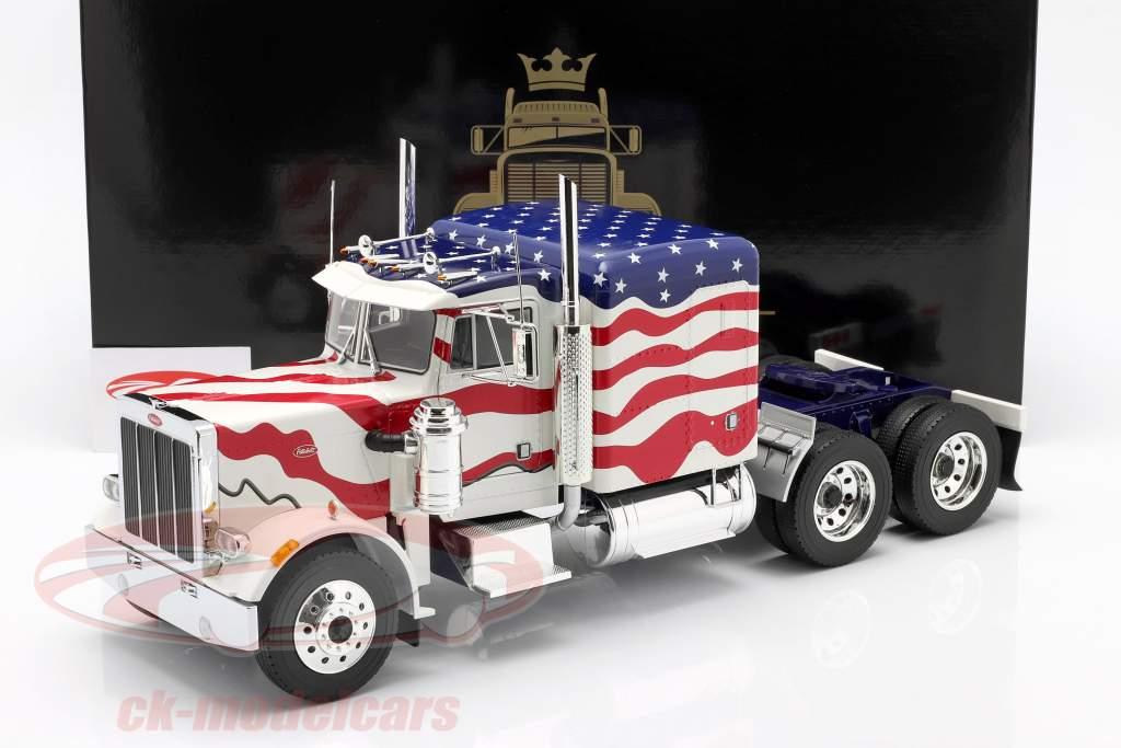 Peterbilt 359 Bull Nose Sattelzugmaschine 1967 Stars and Stripes 1:18 Road Kings