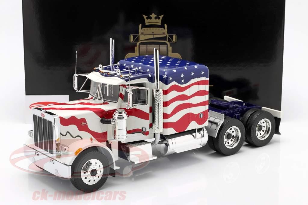 Peterbilt 359 Bull Nose Truck 1967 Stars and Stripes 1:18 Road Kings