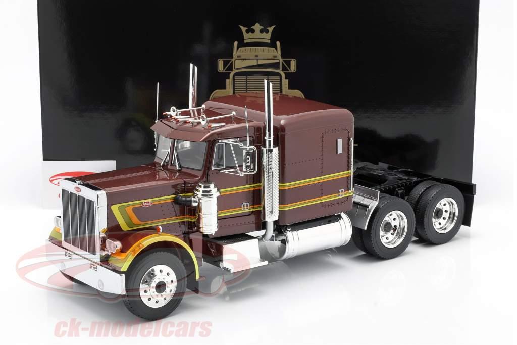 Peterbilt 359 Bull Nose camion 1967 marron métallique 1:18 Road Kings