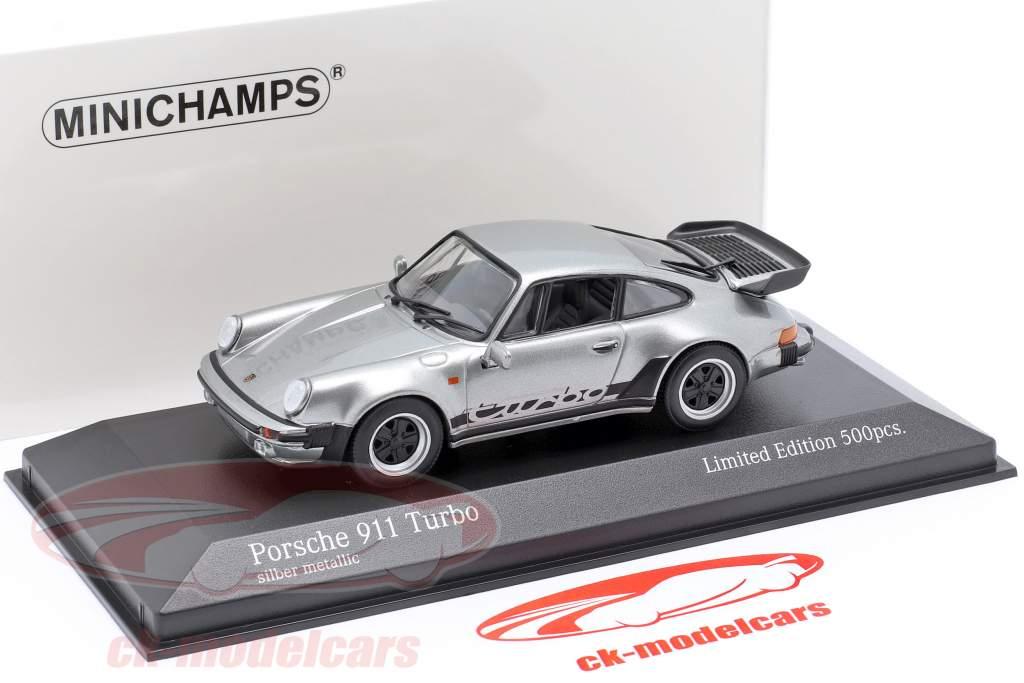 Porsche 911 (930) Turbo 3.3 Baujahr 1979 silber 1:43 Minichamps
