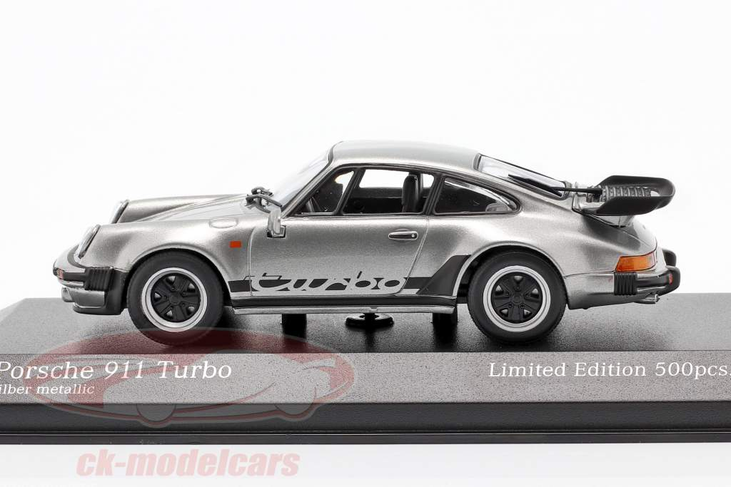 Porsche 911 (930) Turbo 3.3 year 1979 silver 1:43 Minichamps
