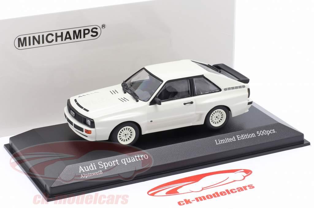 Audi Sport quattro Bouwjaar 1984 Wit 1:43 Minichamps