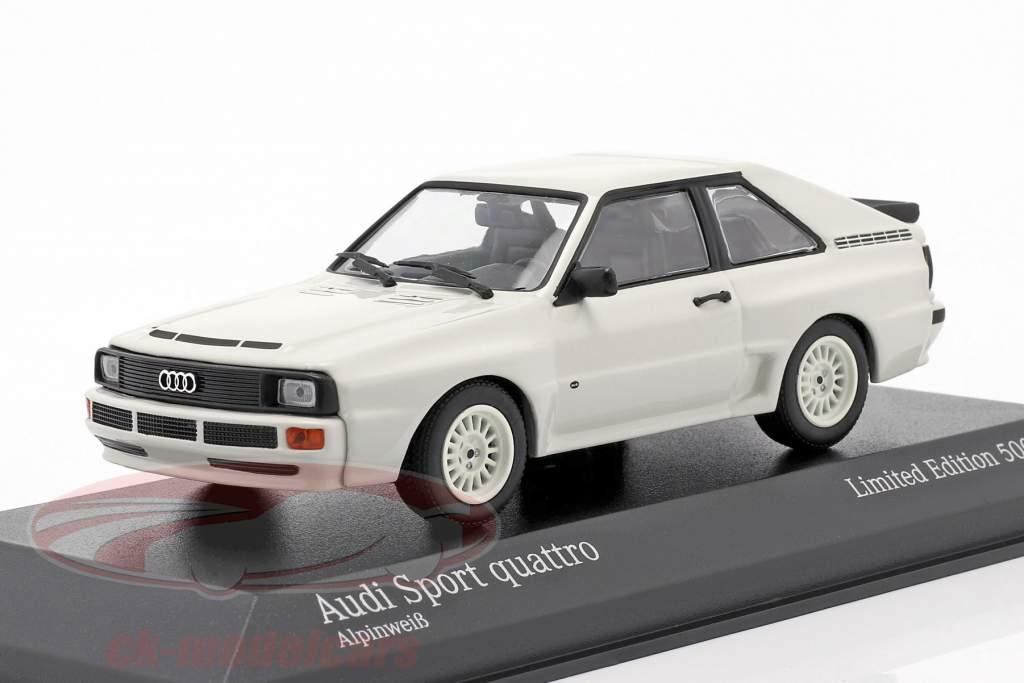 Audi Sport quattro Byggeår 1984 hvid 1:43 Minichamps