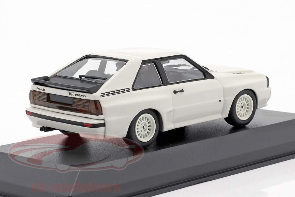 Audi Sport quattro Année de construction 1984 blanc 1:43 Minichamps