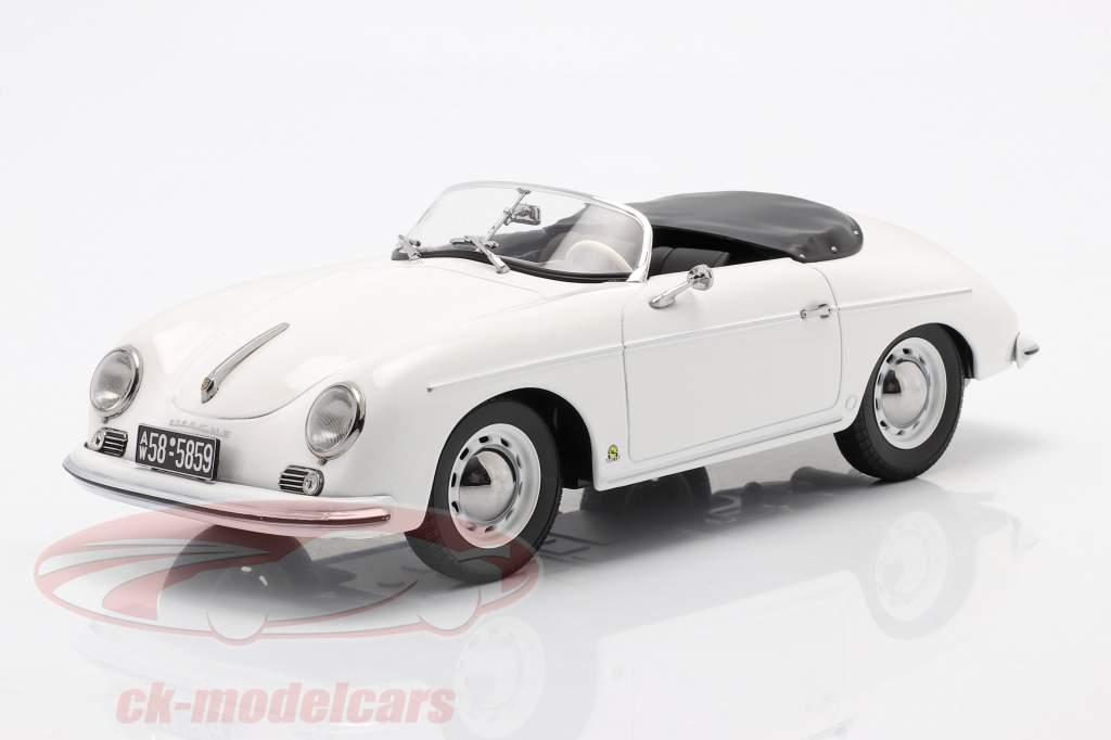 Porsche 356 Speedster Anno di costruzione 1954 bianca 1:18 Norev