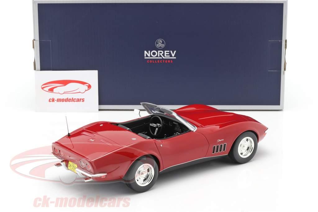 Norev 1 18 Chevrolet Corvette Convertible Year 1969 Red 189036 Model Car 189036 3551091890362