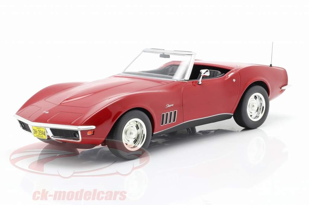 Chevrolet Corvette Convertible Ano de construção 1969 vermelho 1:18 Norev