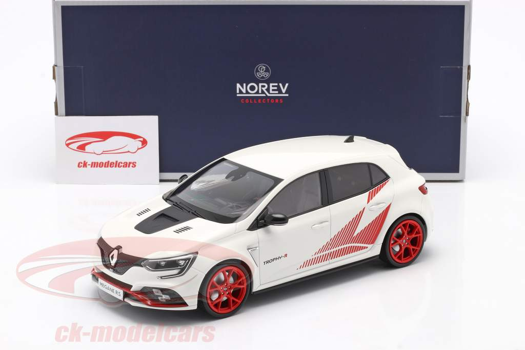 Renault Megane R.S. Trophy-R Byggeår 2019 hvid 1:18 Norev
