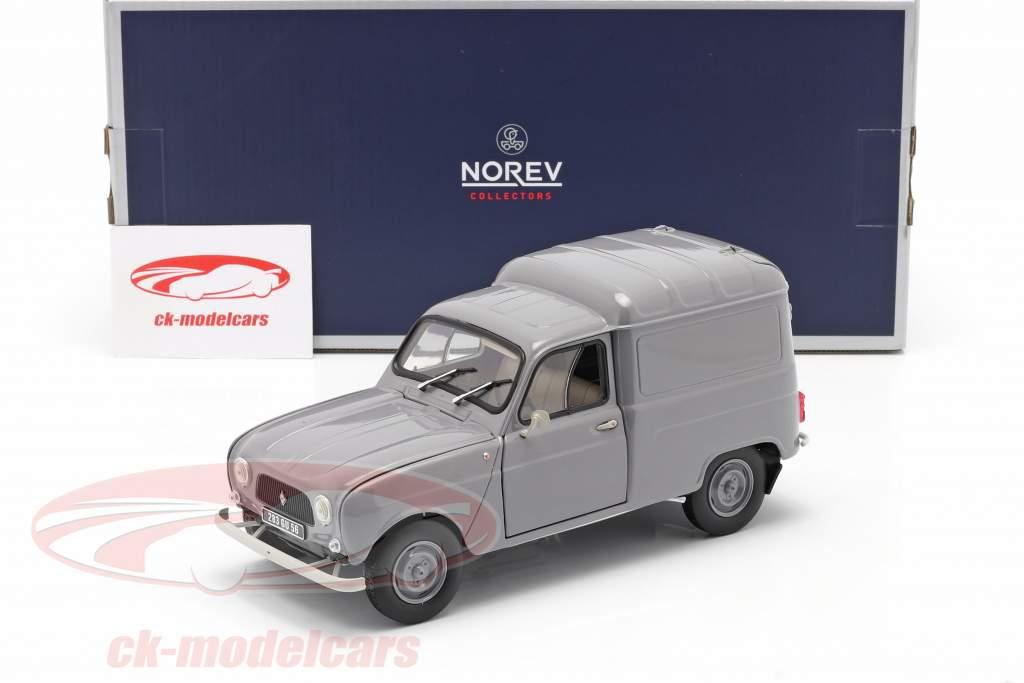 Renault 4 Fourgonnette Byggeår 1965 Grå 1:18 Norev