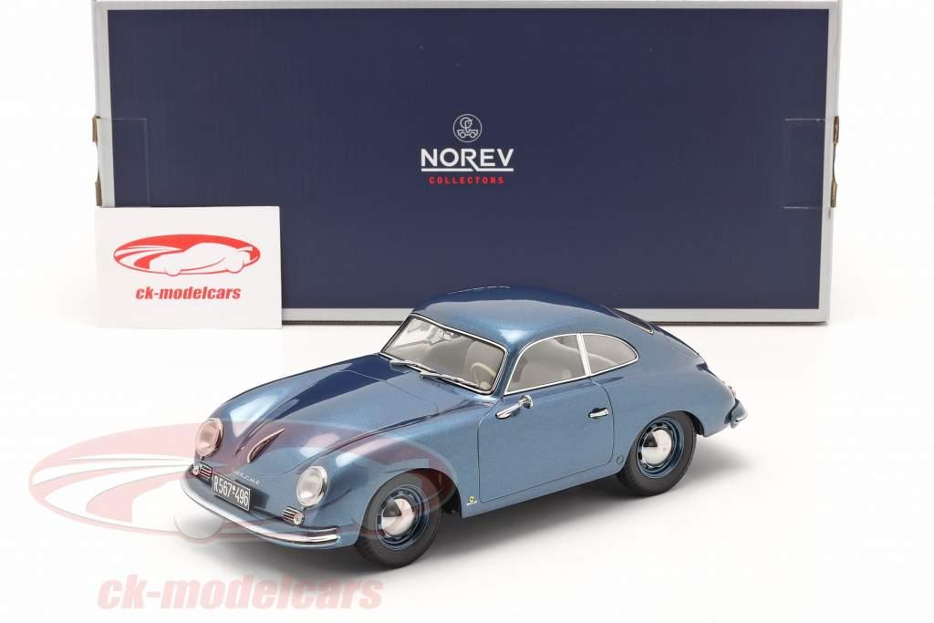 Porsche 356 Coupe Année de construction 1952 bleu métallique 1:18 Norev