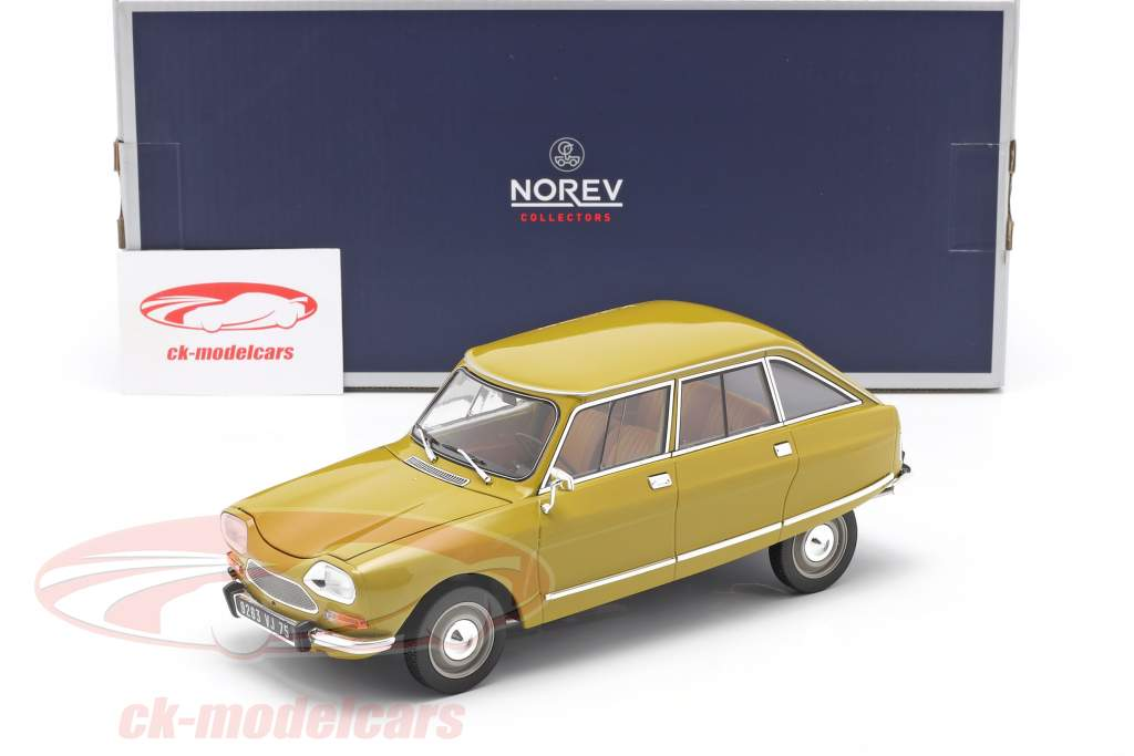 Citroen Ami 8 Club Byggeår 1969 gylden gul 1:18 Norev