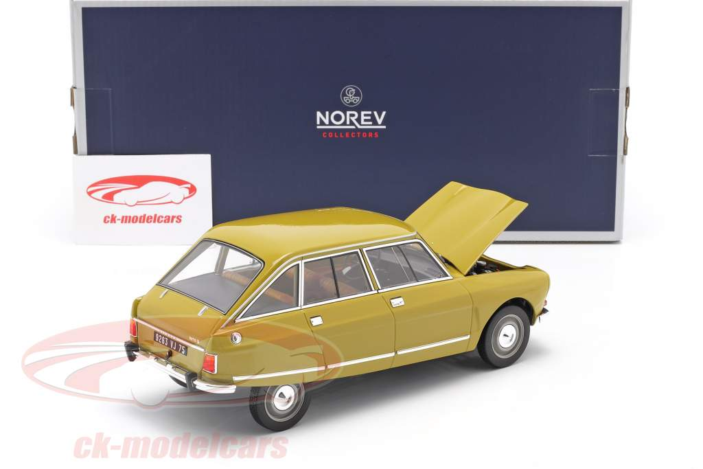 Citroen Ami 8 Club 建设年份 1969 金黄色 1:18 Norev