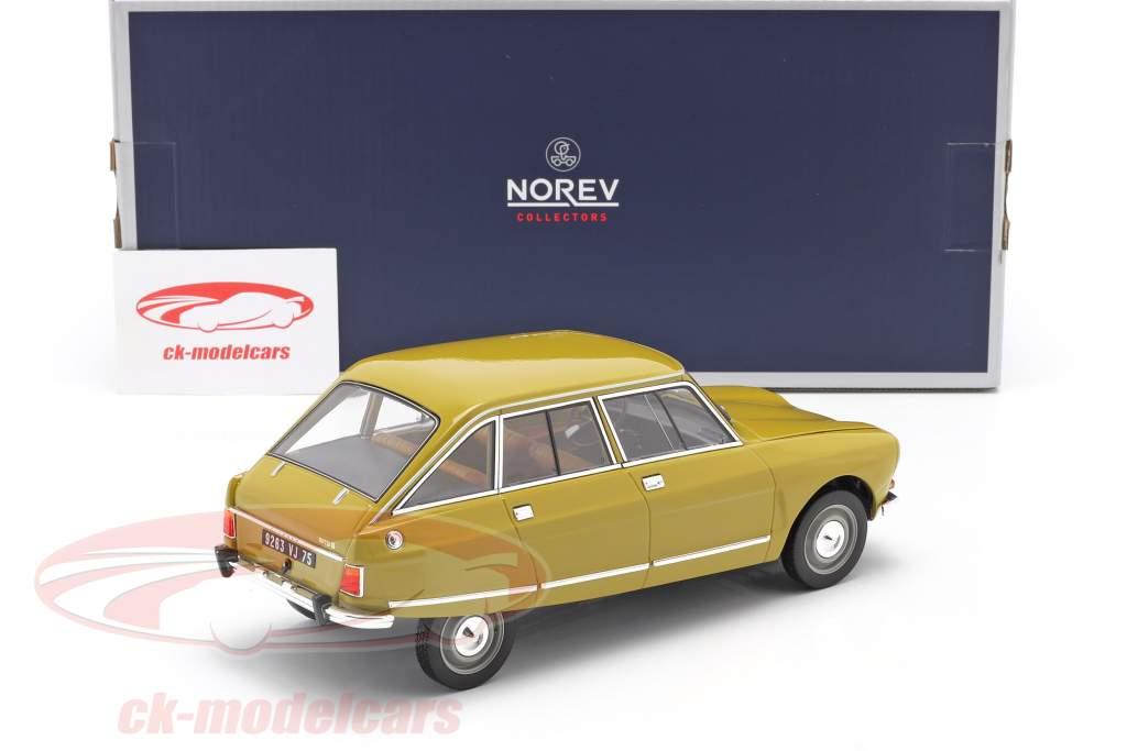 Citroen Ami 8 Club Baujahr 1969 goldgelb 1:18 Norev