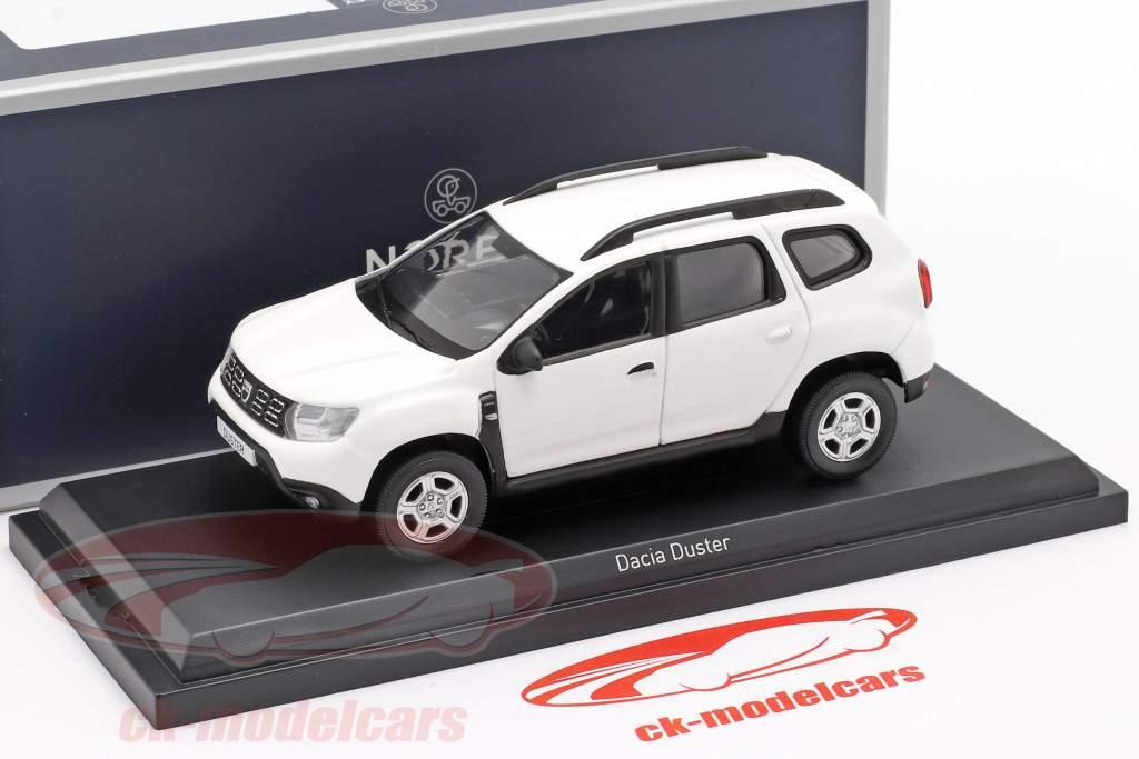 Dacia Duster Byggeår 2018 hvid 1:43 Norev