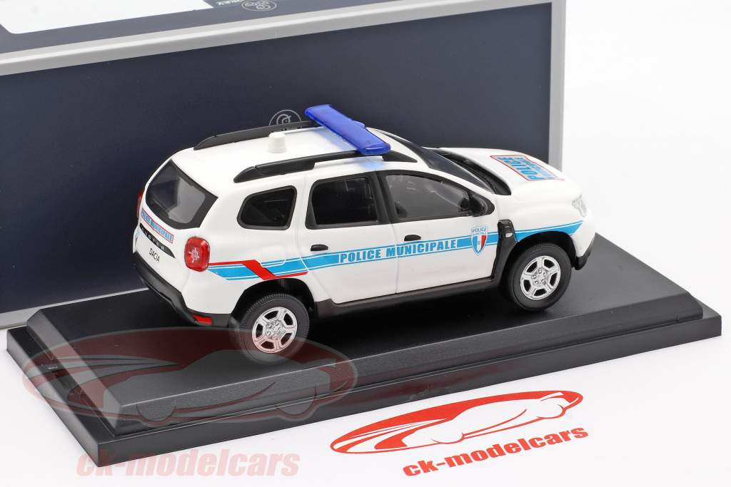 Dacia Duster Police Municipale 2018 hvid / blå 1:43 Norev