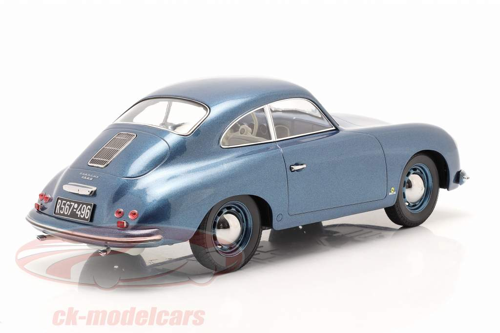 Porsche 356 Coupe 建设年份 1952 蓝色 金属的 1:18 Norev
