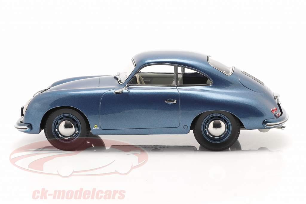 Porsche 356 Coupe Ano de construção 1952 azul metálico 1:18 Norev