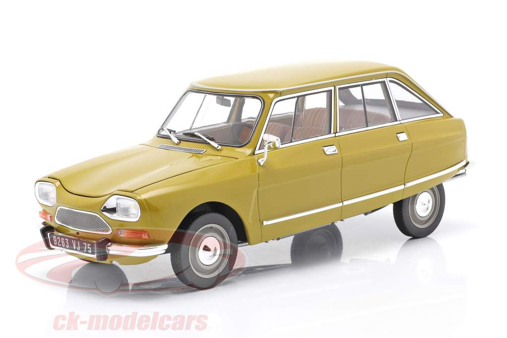 Citroen Ami 8 Club year 1969 golden yellow 1:18 Norev