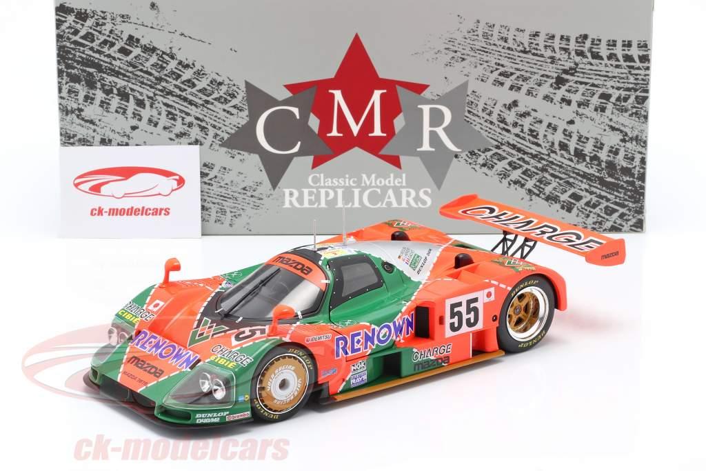 Mazda 787B #55 vencedora 24h LeMans 1991 Weidler, Herbert, Gachot 1:18 CMR