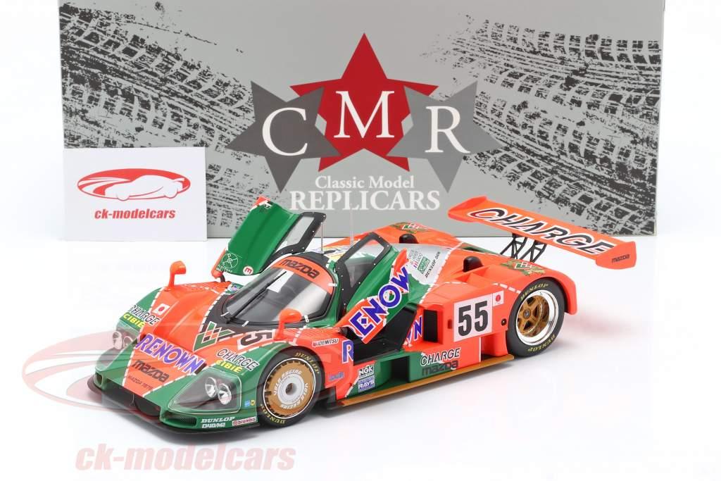 Mazda 787B #55 winnaar 24h LeMans 1991 Weidler, Herbert, Gachot 1:18 CMR
