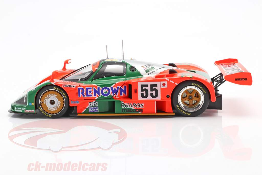 Mazda 787B #55 vinder 24h LeMans 1991 Weidler, Herbert, Gachot 1:18 CMR