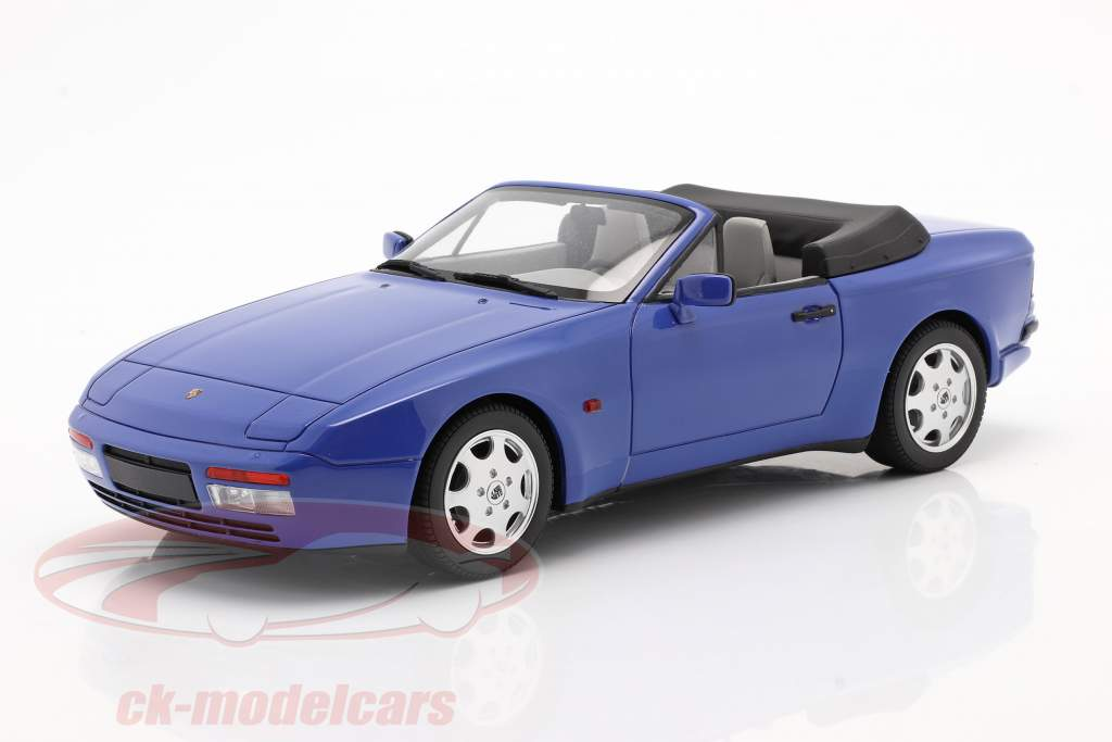 Porsche 944 Turbo Cabriolet S2 år 1989 maritim blå 1:18 GT-Spirit