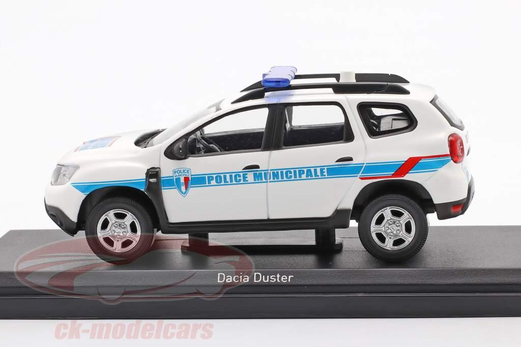 Dacia Duster Police Municipale 2018 white / blue 1:43 Norev