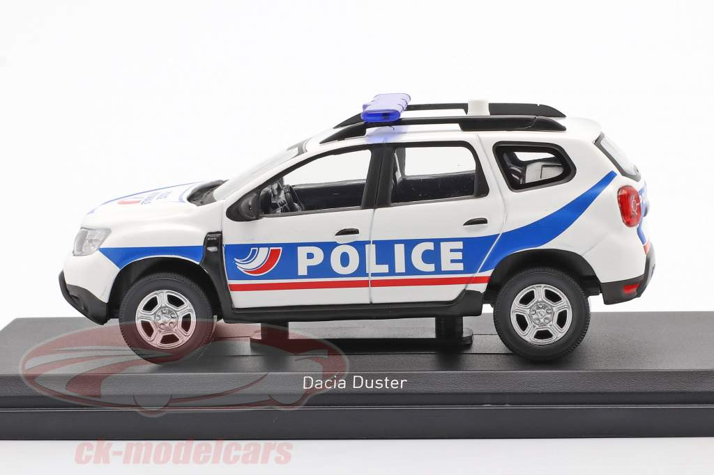 Dacia Duster Police Nationale 2018 hvid / blå 1:43 Norev