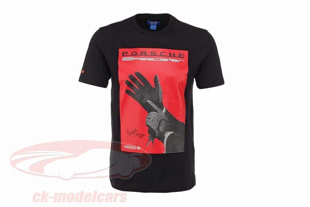 Porsche camiseta Porsche Speedster Preparar para Ganhar Adidas Preto