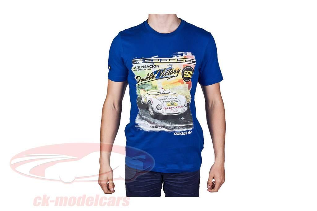 Porsche T-shirt Porsche 550 Dobbelt Sejr 1954 Adidas blå