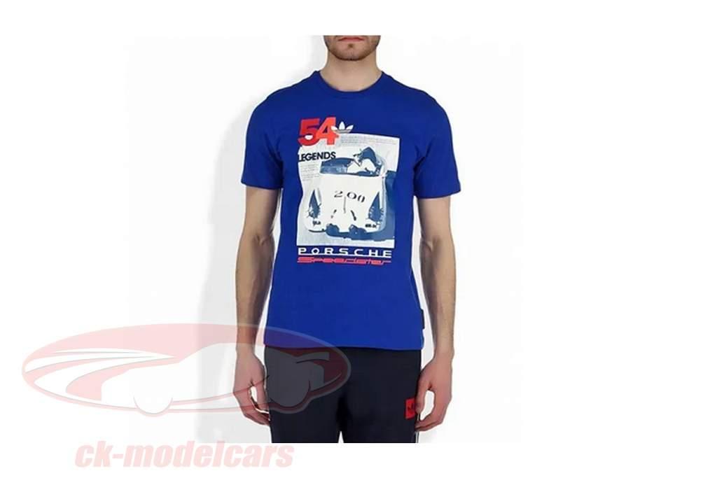 Porsche Maglietta Porsche Speedster asfalto Leggende Adidas blu