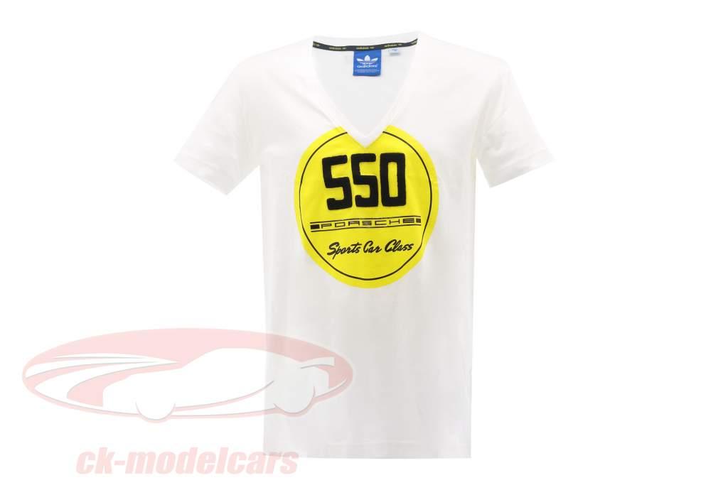 Porsche camiseta Porsche 550 Esportes Carro Classe Adidas Branco