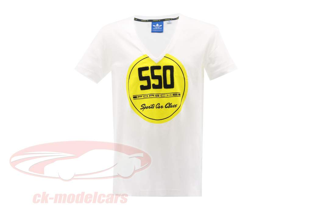 Porsche T-shirt Porsche 550 Des sports Voiture Classe Adidas blanc
