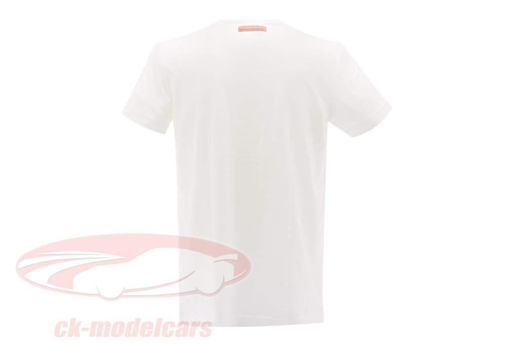 Porsche T-shirt Porsche 550 Sport Bil Klasse Adidas hvid