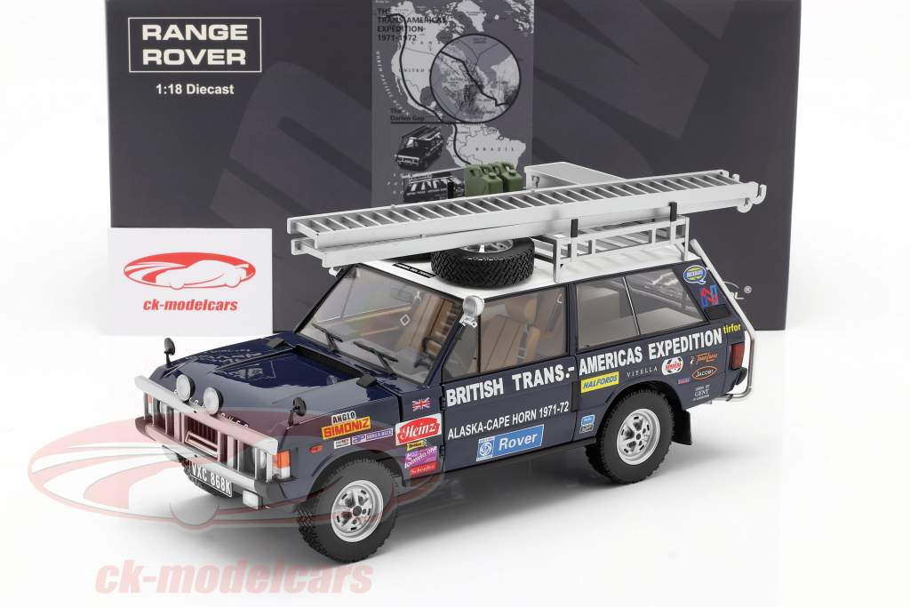 Expedição Land Rover Range Rover British Trans-Americas 1971-72 1:18 Quase real
