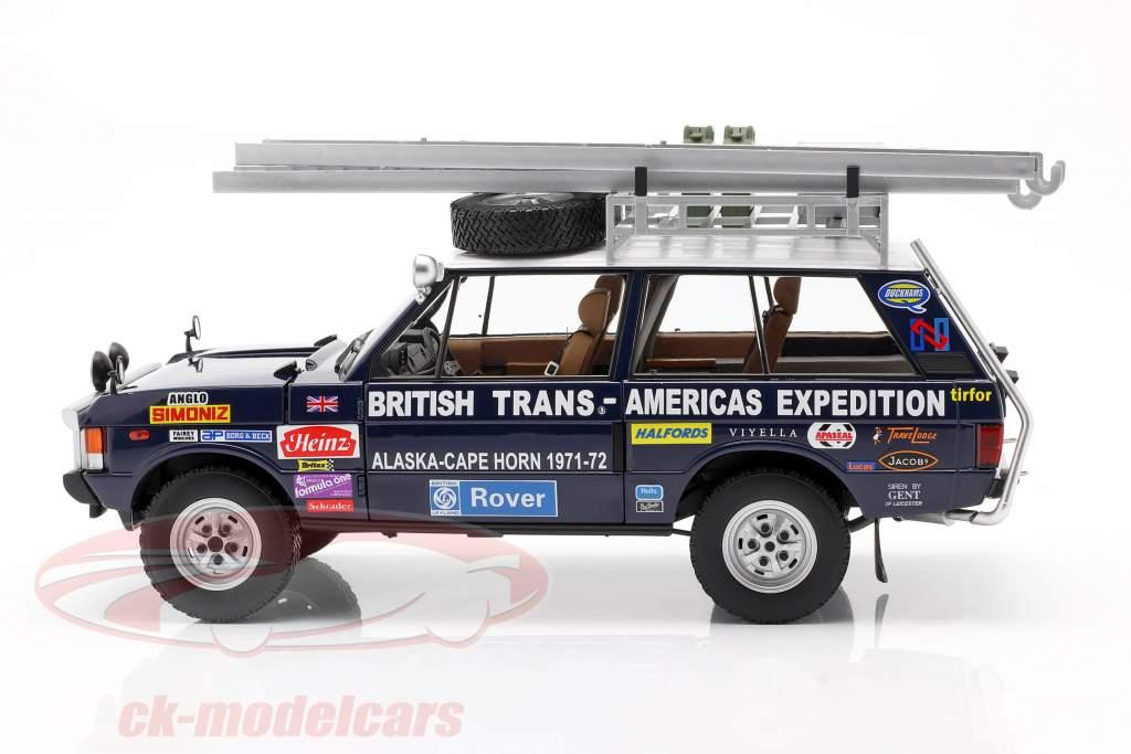 Land Rover Range Rover Expedición británica Trans-Americas 1971-72 1:18 Casi real